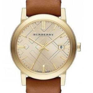 New Burberry Haymarket Leather Ladies Watch BU9133